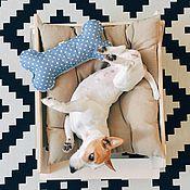 Для домашних животных, ручной работы. Ярмарка Мастеров - ручная работа Лежанка-гамак с подушечкой для маленьких собачек. Handmade.