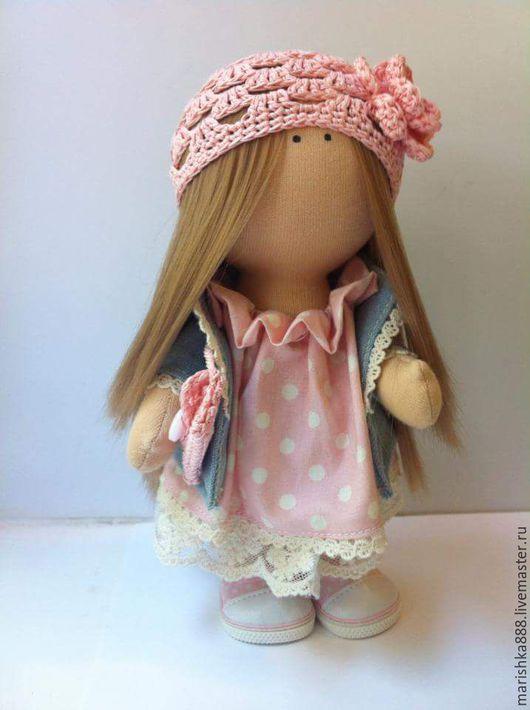 Куклы тыквоголовки ручной работы. Ярмарка Мастеров - ручная работа. Купить Интерьерная кукла. Handmade. Бледно-розовый, интерьерная кукла