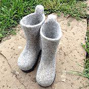 Обувь ручной работы. Ярмарка Мастеров - ручная работа Валенки детские на подошве. Handmade.