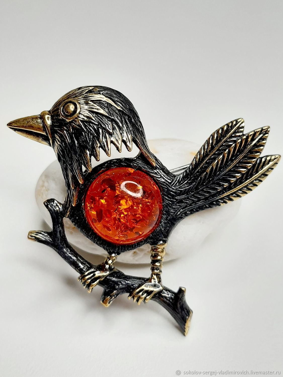 Karkusha Raven Brooch, Brooches, Moscow,  Фото №1