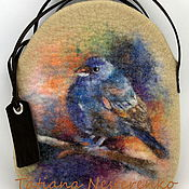 """Сумки и аксессуары ручной работы. Ярмарка Мастеров - ручная работа Сумка """"Синяя птица счастья или к чему снится зяблик?""""(резерв). Handmade."""