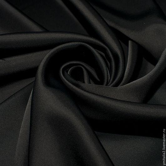 Шитье ручной работы. Ярмарка Мастеров - ручная работа. Купить Шелк вискозный  атлас черный  ROBERTO CAVALLI. Handmade.