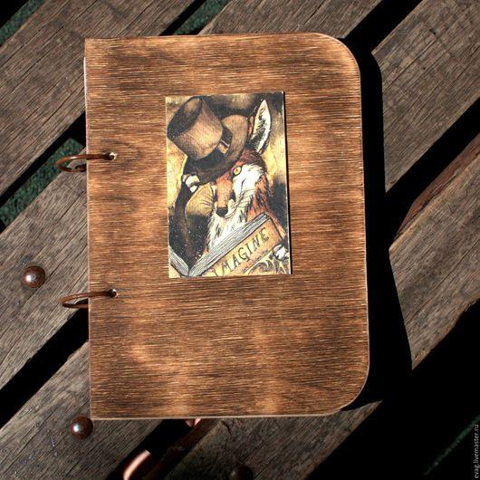 """Блокноты ручной работы. Ярмарка Мастеров - ручная работа. Купить Блокнот Скетчбук А5 """"Лис-книгочтей"""". Handmade. Рыжий, артбук"""