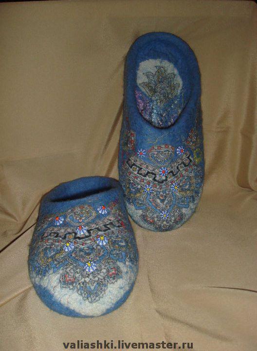 """Обувь ручной работы. Ярмарка Мастеров - ручная работа. Купить Тапочки """"Египетские мотивы"""". Handmade."""