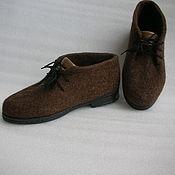 Обувь ручной работы. Ярмарка Мастеров - ручная работа Ботинки короткие. Handmade.