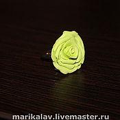 Украшения ручной работы. Ярмарка Мастеров - ручная работа Зеленая роза. Handmade.