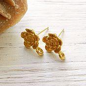 Материалы для творчества handmade. Livemaster - original item Flower earrings studs set 925 sterling Silver on. Bali (art. 2297). Handmade.