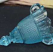 Винтаж handmade. Livemaster - original item Vintage blue glass oil lamp 19th century. Handmade.