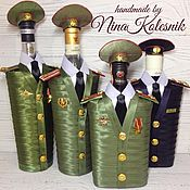 Сувениры и подарки handmade. Livemaster - original item The design of the gift bottles. A gift for a military man. Handmade.