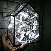 Для дома и интерьера ручной работы. Ярмарка Мастеров - ручная работа Дом из стекла 10х10х15. Handmade.