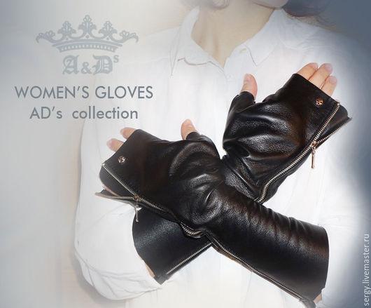 Варежки, митенки, перчатки ручной работы. Ярмарка Мастеров - ручная работа. Купить Перчатки женские - Ladie's Glove's. Handmade. Черный