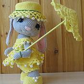 Мягкие игрушки ручной работы. Ярмарка Мастеров - ручная работа Зайка с зонтом. Handmade.
