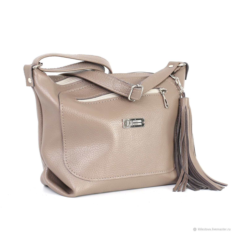 кожаная бежевая сумка купить