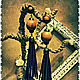 """Серьги ручной работы. Ярмарка Мастеров - ручная работа. Купить Серьги висячие """" Africa """". Handmade. Коричневый"""