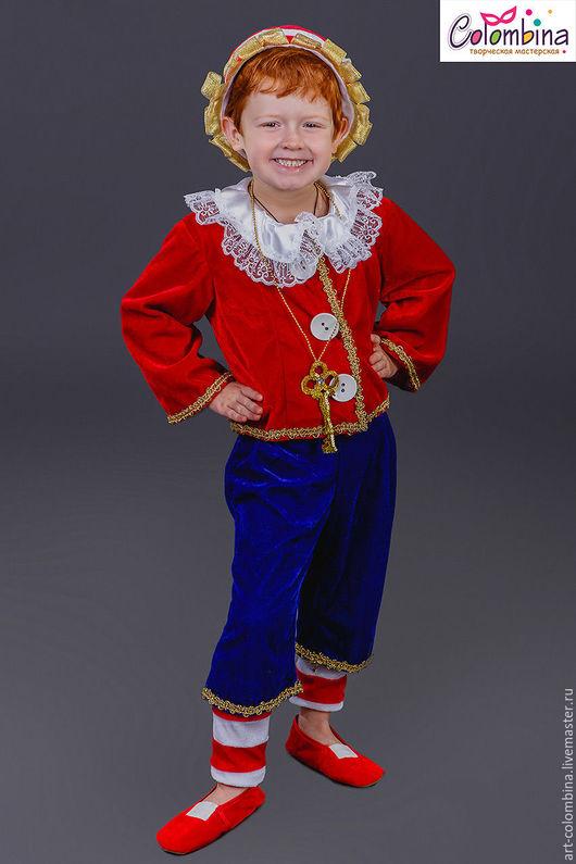 Детские карнавальные костюмы ручной работы. Ярмарка Мастеров - ручная работа. Купить Костюм Буратино. Handmade. Ярко-красный