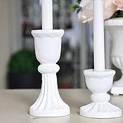 Для дома и интерьера handmade. Livemaster - original item A set of candle holders made of concrete for thin candles, wedding candle holders. Handmade.