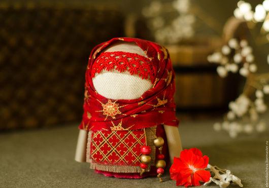 Народные куклы ручной работы. Ярмарка Мастеров - ручная работа. Купить Крупеничка. Handmade. Ярко-красный, оберег, славянские традиции