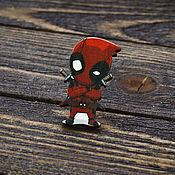 Украшения handmade. Livemaster - original item Wooden icon Deadpool. Handmade.