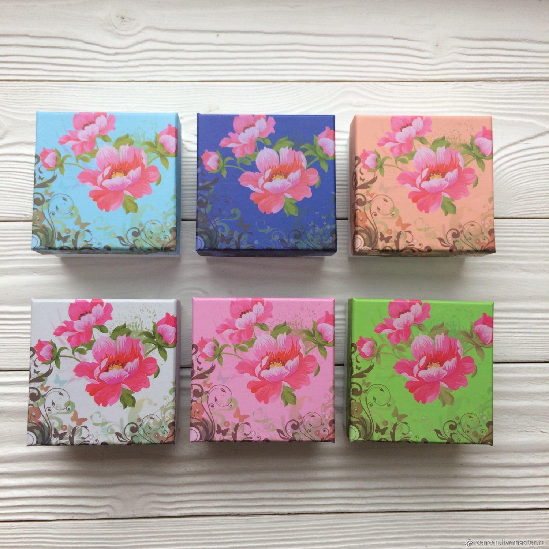 Коробочка для украшений «Flowers» 8х8 см, Упаковка, Санкт-Петербург, Фото №1