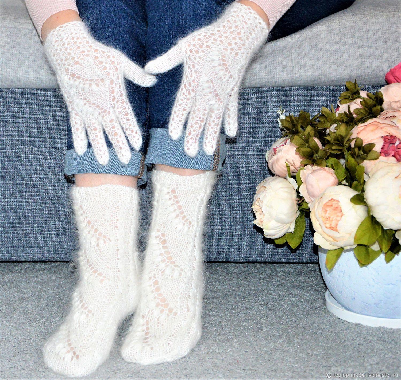 New!Openwork beautiful set of socks and gloves, Socks, Urjupinsk,  Фото №1