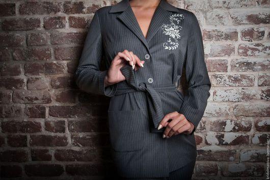 Костюмы ручной работы. Ярмарка Мастеров - ручная работа. Купить Женский костюм. Handmade. Серый, женская одежда, дизайнерская одежда