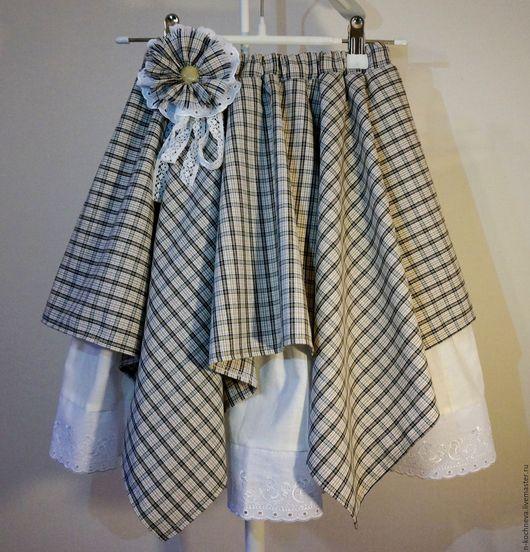Одежда для девочек, ручной работы. Ярмарка Мастеров - ручная работа. Купить Юбка детская в стиле бохо из хлопка. Handmade. Белый
