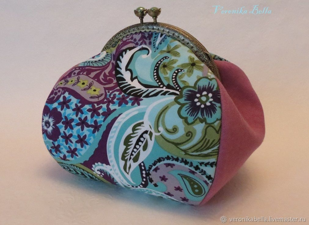 Cosmetic bag with clasp 'Spring patterns', Wallets, Polyarnye Zori,  Фото №1