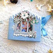Фотоальбомы ручной работы. Ярмарка Мастеров - ручная работа Фотоальбом в форме домика. Handmade.