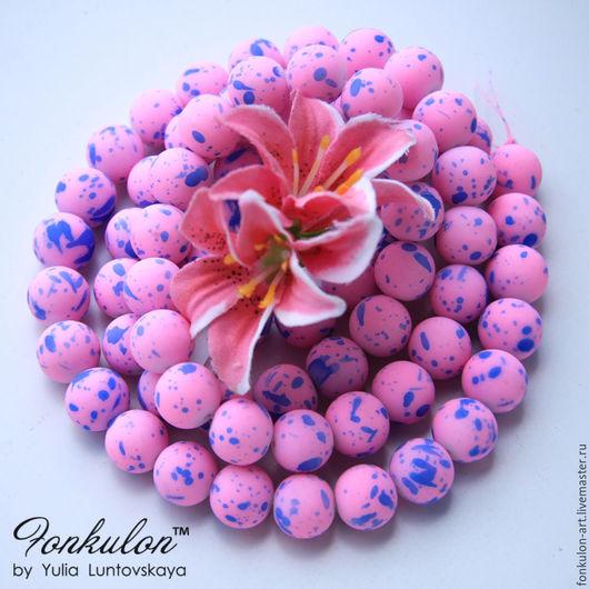 Для украшений ручной работы. Ярмарка Мастеров - ручная работа. Купить Агат Граффити: Розовый 12мм. Handmade. Бусины