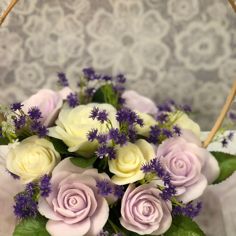 Корзина роз из мыла, Мыло, Москва, Фото №1