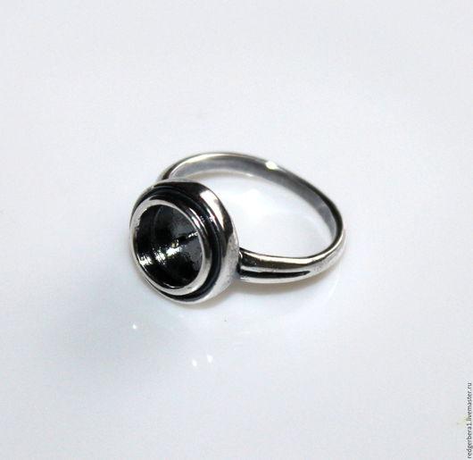 """Для украшений ручной работы. Ярмарка Мастеров - ручная работа. Купить Основа для кольца """"Лика"""" - серебрение 925 пробы. Handmade."""