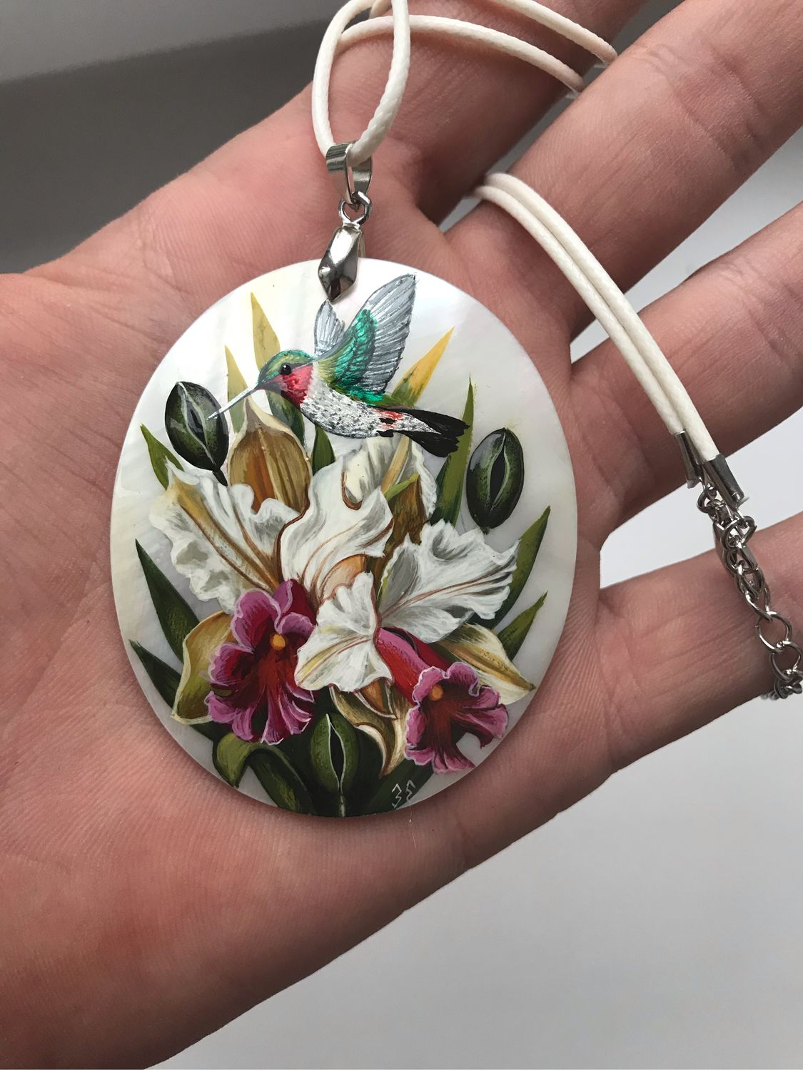 Bouquet of orchids with Hummingbird, Pendants, Vladimir,  Фото №1