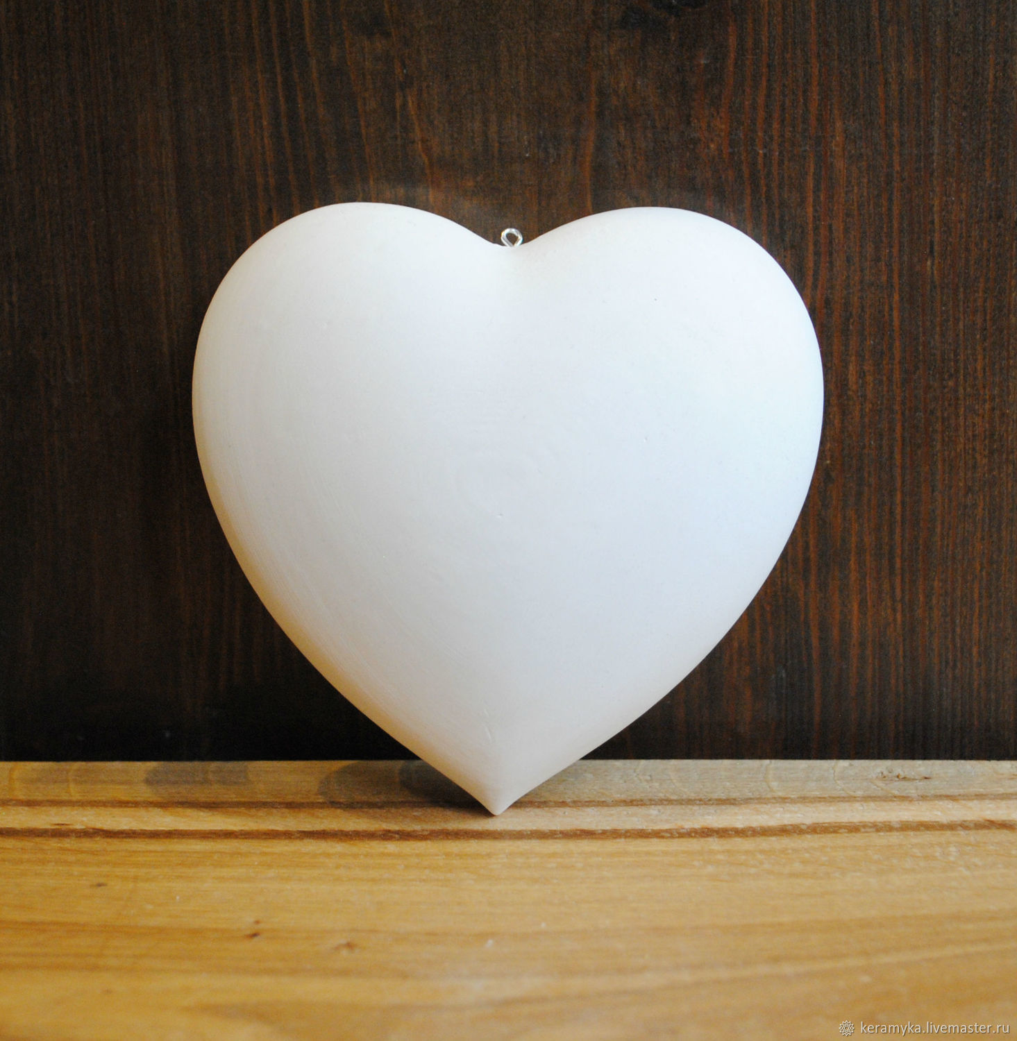Blank for decoupage and painting 'Heart h - 14 cm', Blanks for decoupage and painting, Shigony,  Фото №1