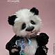 Мишки Тедди ручной работы. Ярмарка Мастеров - ручная работа. Купить Панда Юм-юм. Handmade. Чёрно-белый