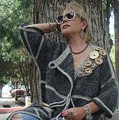 Одежда ручной работы. Ярмарка Мастеров - ручная работа Пальто вязаное с пуговицами авторское. Handmade.
