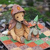Куклы и игрушки ручной работы. Ярмарка Мастеров - ручная работа Лис и Гусик - осенняя прогулка. Handmade.