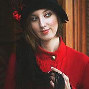 """Аксессуары ручной работы. Ярмарка Мастеров - ручная работа шляпка в стиле ретро  """"Танго   """". Handmade."""