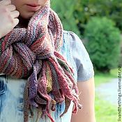 Аксессуары ручной работы. Ярмарка Мастеров - ручная работа Шарф Цветущий сад. (длинный шарф из 100% шерсти). Handmade.