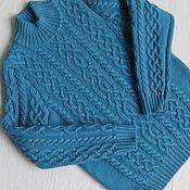 Работы для детей, ручной работы. Ярмарка Мастеров - ручная работа Темно-бирюзовый свитер для мальчика. Handmade.