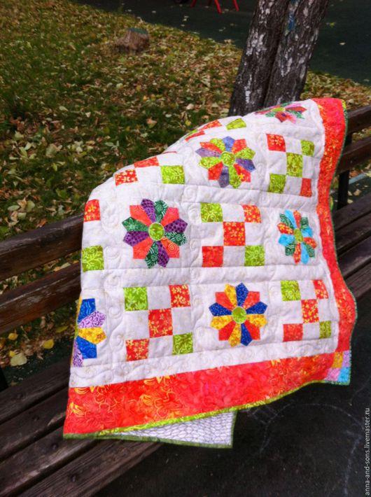 Лоскутное одеяло, одеяло лоскутное, одеяло `Краски осени`