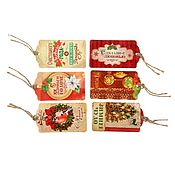 Материалы для творчества handmade. Livemaster - original item The set of tags for gift (6pcs.)