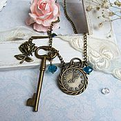 Украшения handmade. Livemaster - original item Vintage Pendant on a Chain the key to the Wonderland. Handmade.
