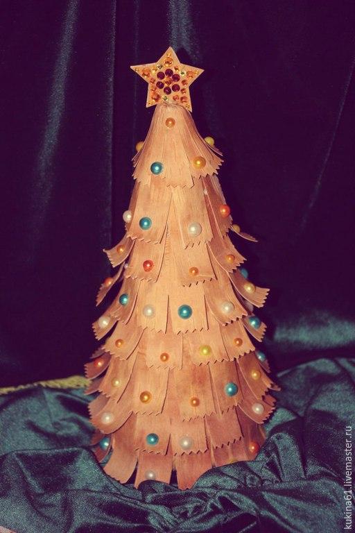 Новый год 2017 ручной работы. Ярмарка Мастеров - ручная работа. Купить новогодняя елка. Handmade. Разноцветный, елка ручной работы