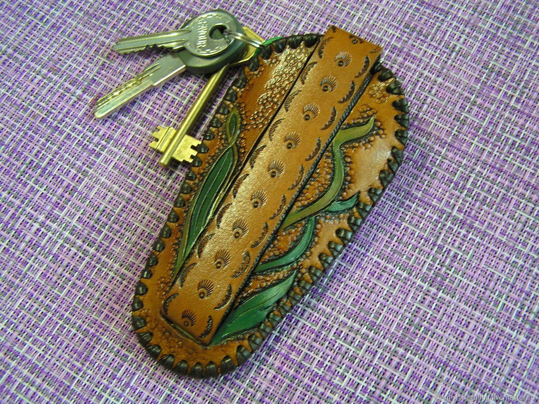 Футляр из натуральной кожи для ключей(ключница)