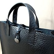 Сумки и аксессуары handmade. Livemaster - original item Bag bag without lining made of natural thick leather. Handmade.