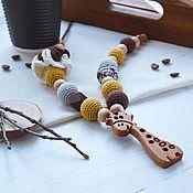 Одежда handmade. Livemaster - original item Slingobusy with grafikom brown mustard. Handmade.