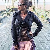Одежда handmade. Livemaster - original item Women`s leather jacket . Jacket for spring and autumn. Handmade.