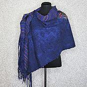 Аксессуары handmade. Livemaster - original item Purple Felted Stole with Tassels Wide wool scarf boho. Handmade.