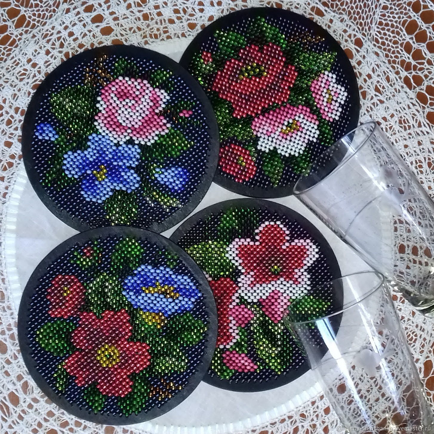 Needlework handmade. Livemaster - handmade. Buy Set for embroidery with beads 'Color and black'.Bead embroidery