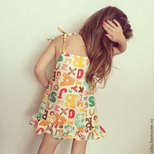 Одежда для девочек, ручной работы. Ярмарка Мастеров - ручная работа. Купить Детский сарафан. Handmade. Разноцветный, рисунок, платье